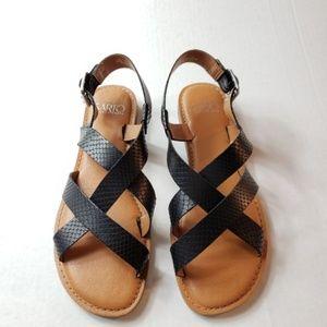 Franco Sarto Black Leather Sandals 6.5